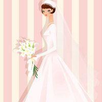 穿白色婚纱的新娘子_动漫头像_爱扣扣网图片