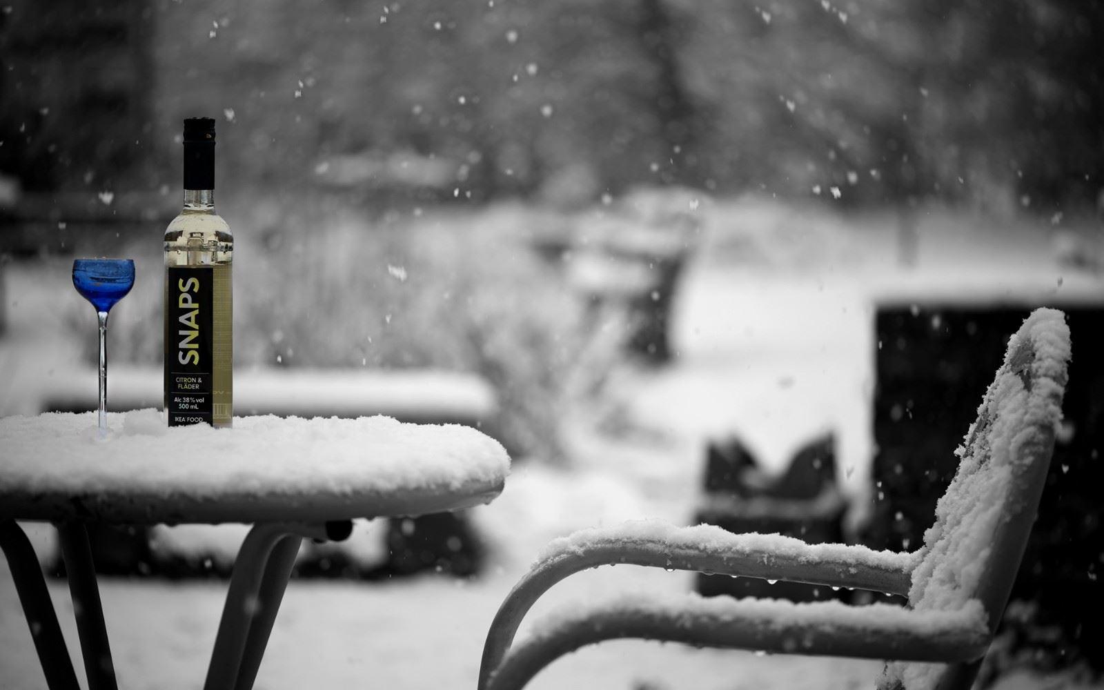 飘雪的季节走在大街小巷