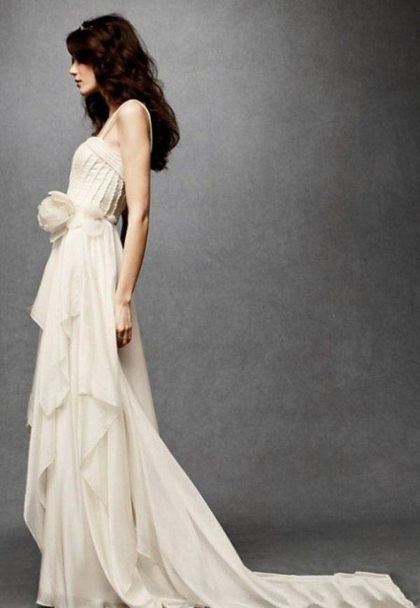 白色落地婚纱合辑图片