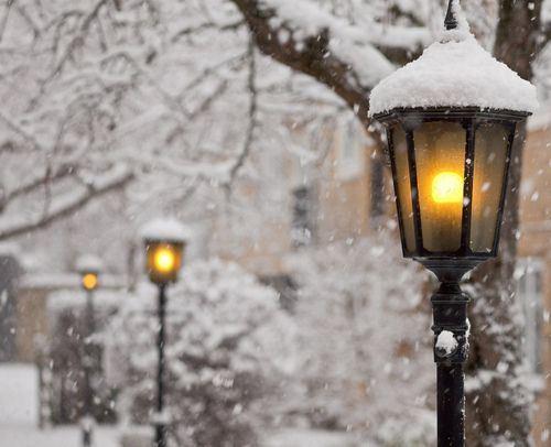 唯美好看的冬季雪景lomo意境图片