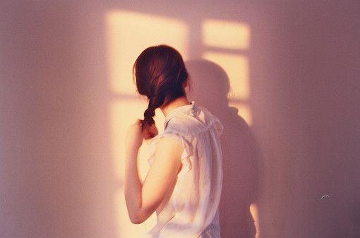 逆光的温柔小清新女生合辑图片