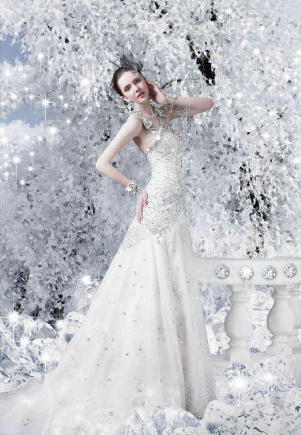 洁白浪漫唯美婚纱照精选