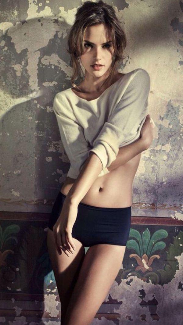 欧美女生马甲线性感诱人图片