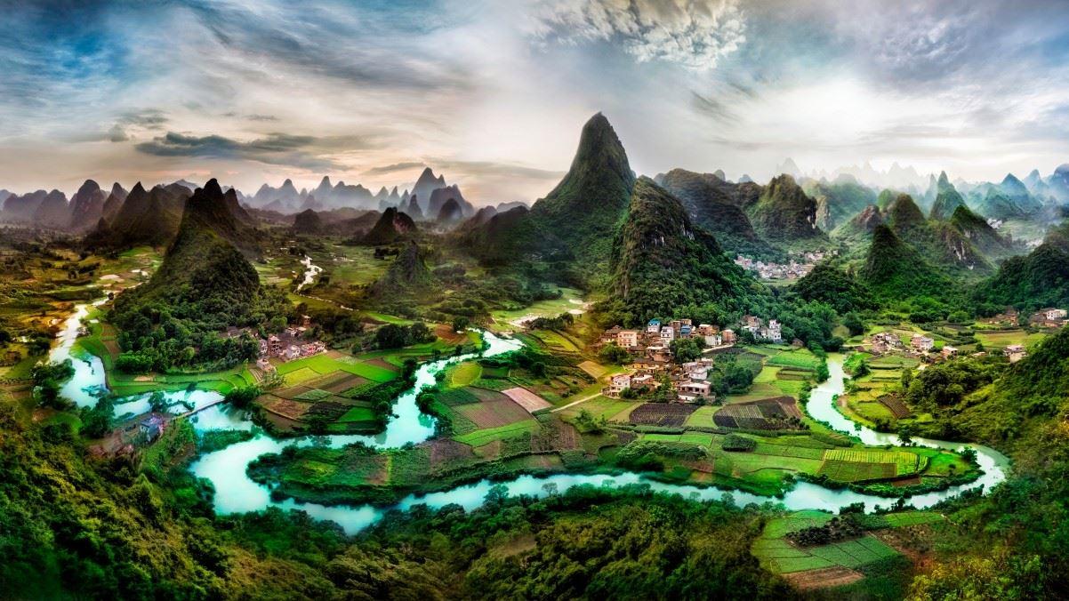 广西桂林山水高清